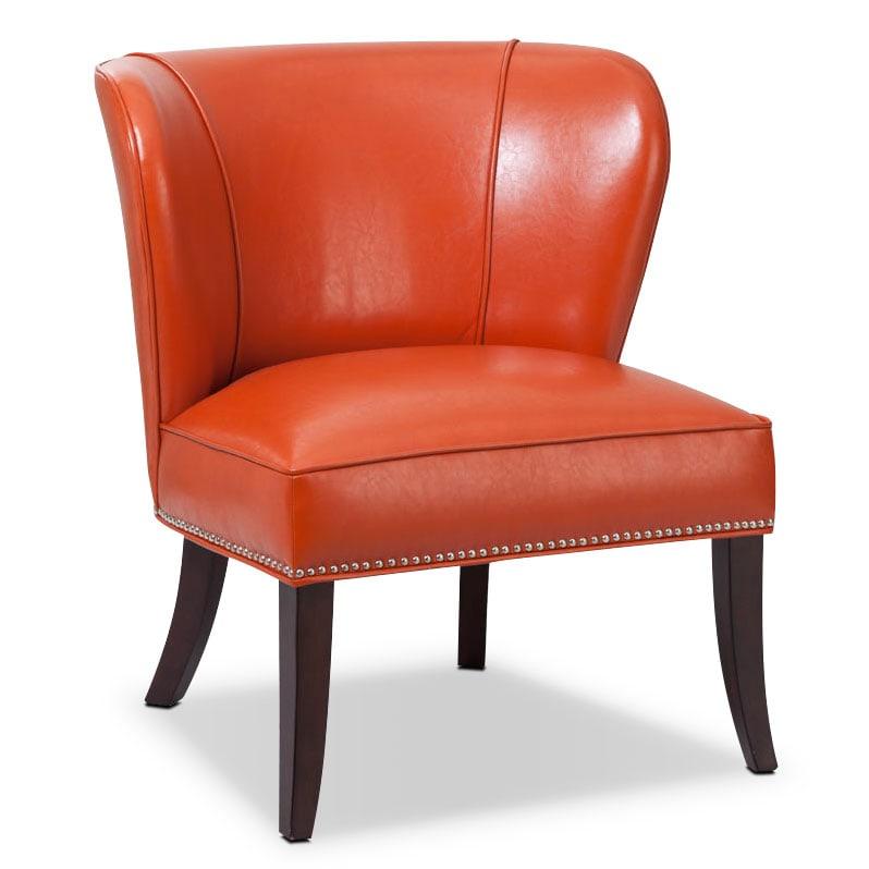 Living Room Furniture - Denver Accent Chair - Orange