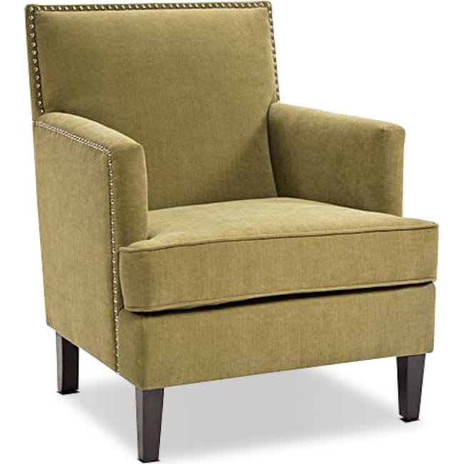 Living Room Furniture - Evanston Accent Chair - Green