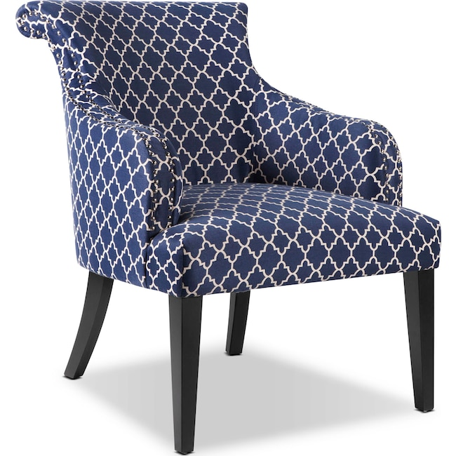 Living Room Furniture - Hampton Accent Chair - Blue