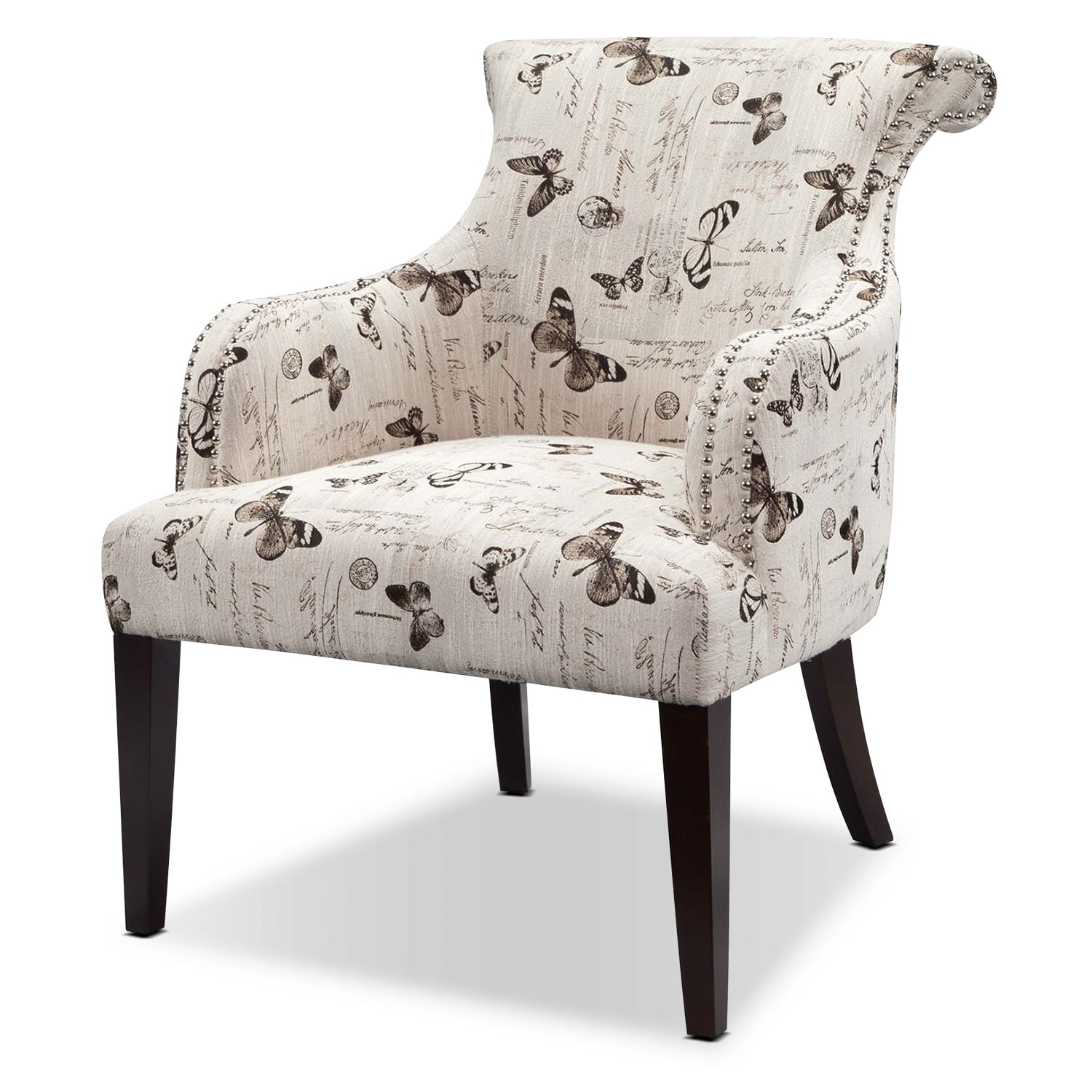 Living Room Furniture - Hampton Accent Chair - Cream