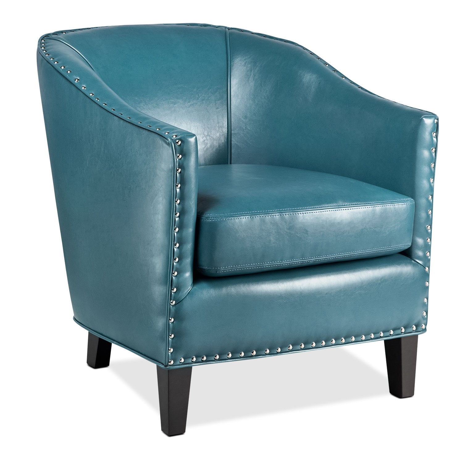 Living Room Furniture - Ada Accent Chair - Blue