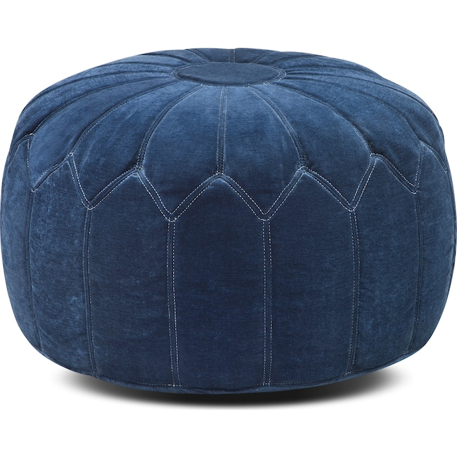 Accent and Occasional Furniture - Hobbs Pouf - Blue