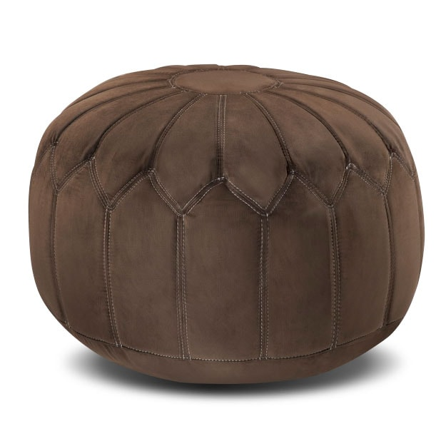Hobbs Pouf - Brown