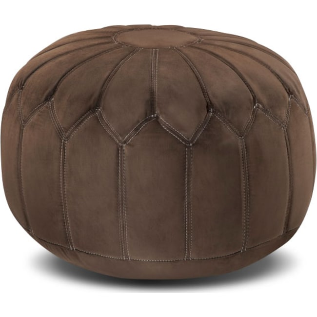 Accent and Occasional Furniture - Hobbs Pouf - Brown