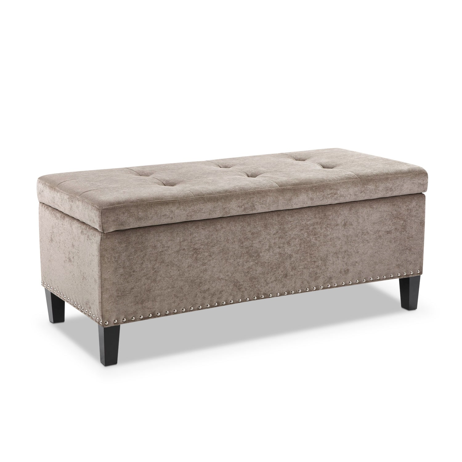 Living Room Furniture - Harper Storage Bench - Gray