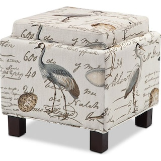 Hayes Storage Ottoman with 2 Pillows - Birds