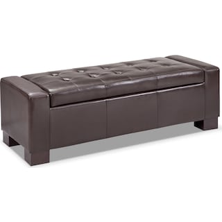 Jive Storage Ottoman - Brown