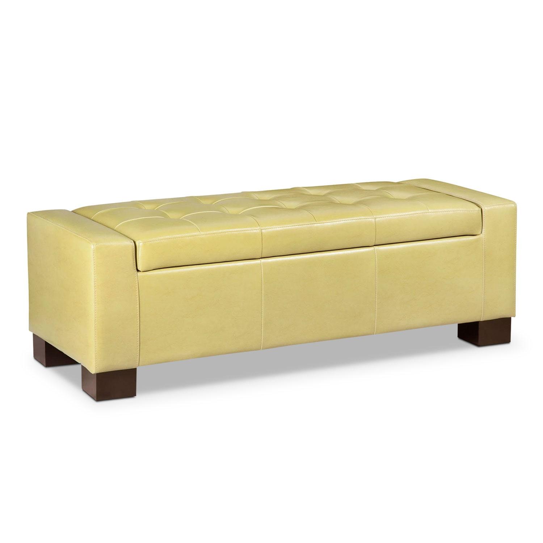 Jive Storage Ottoman - Yellow