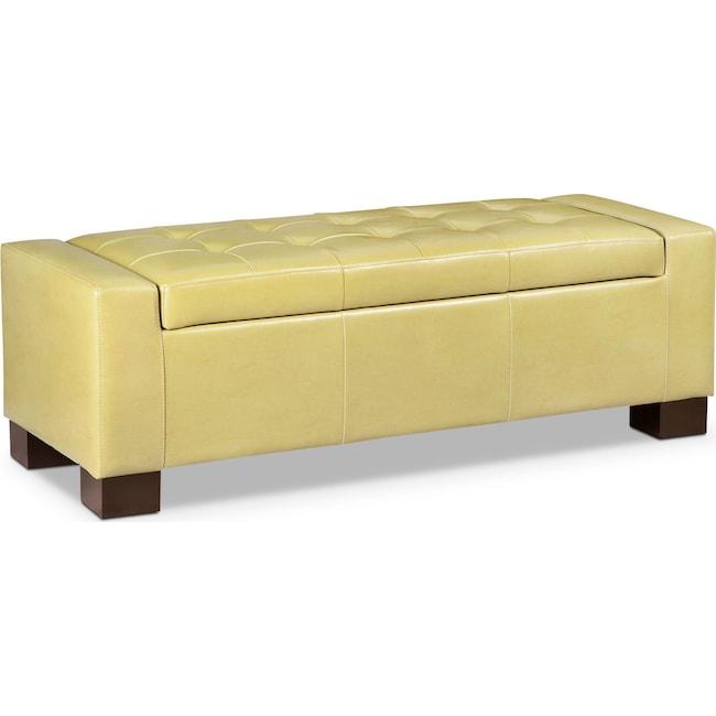 Living Room Furniture - Jive Storage Ottoman - Yellow