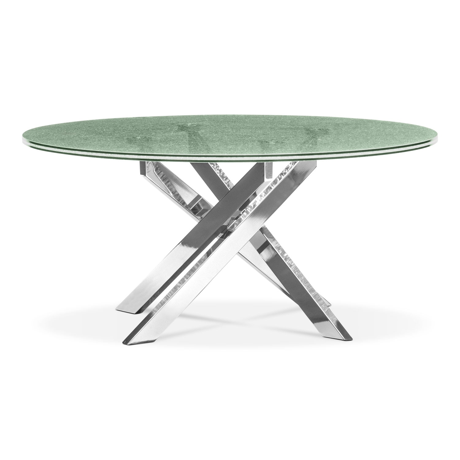 Celestial Cocktail Table - Glass and Chrome