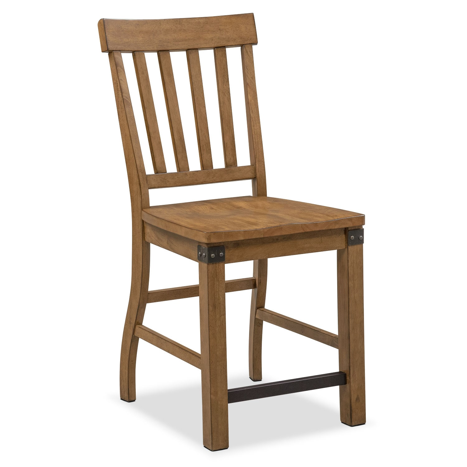 [Salem Counter-Height Chair - Pecan]