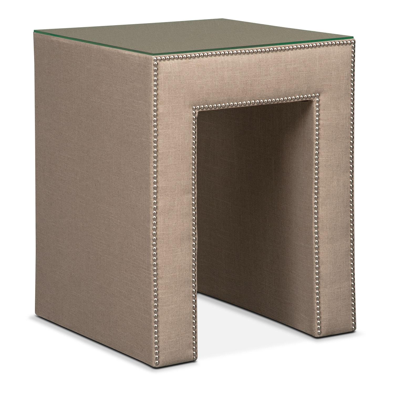 Bedroom Furniture - Nyla Nightstand - Natural Linen