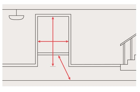 Find tips on measuring your doorways to ensure your furniture fits