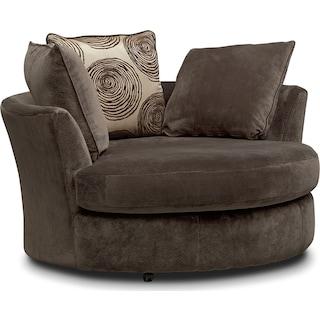 Cordelle Swivel Chair - Chocolate