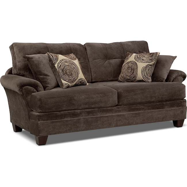 Living Room Furniture - Cordelle Sofa - Chocolate