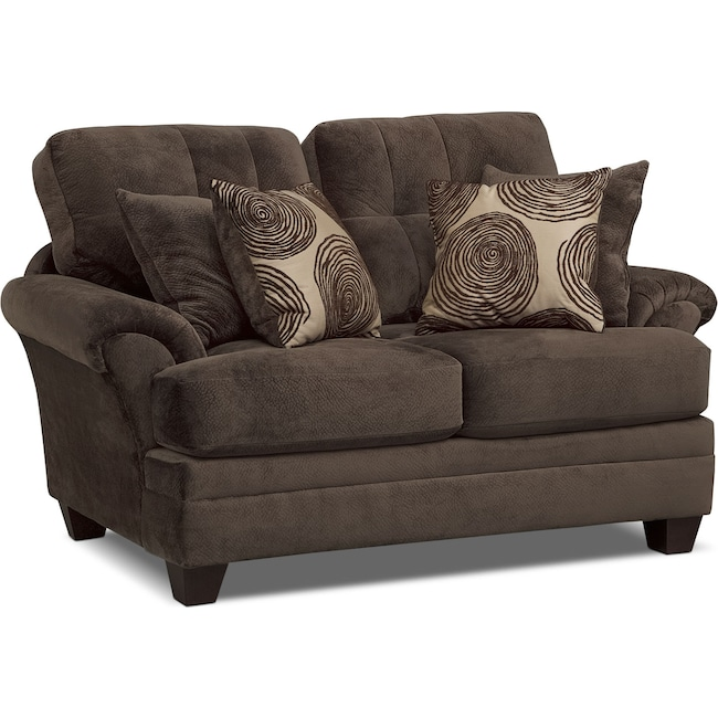 Living Room Furniture - Cordelle Loveseat - Chocolate