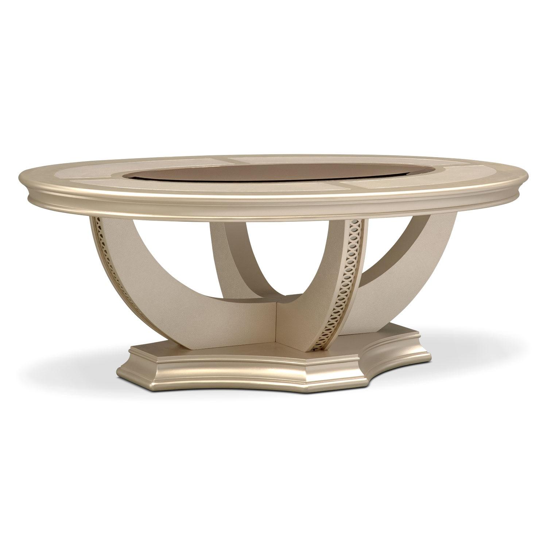 Allegro Cocktail Table Platinum Value City Furniture