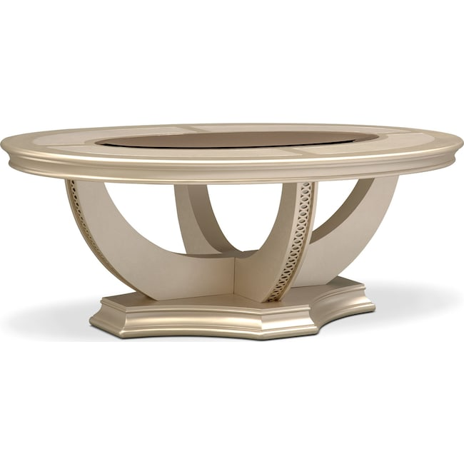 Accent and Occasional Furniture - Allegro Cocktail Table - Platinum