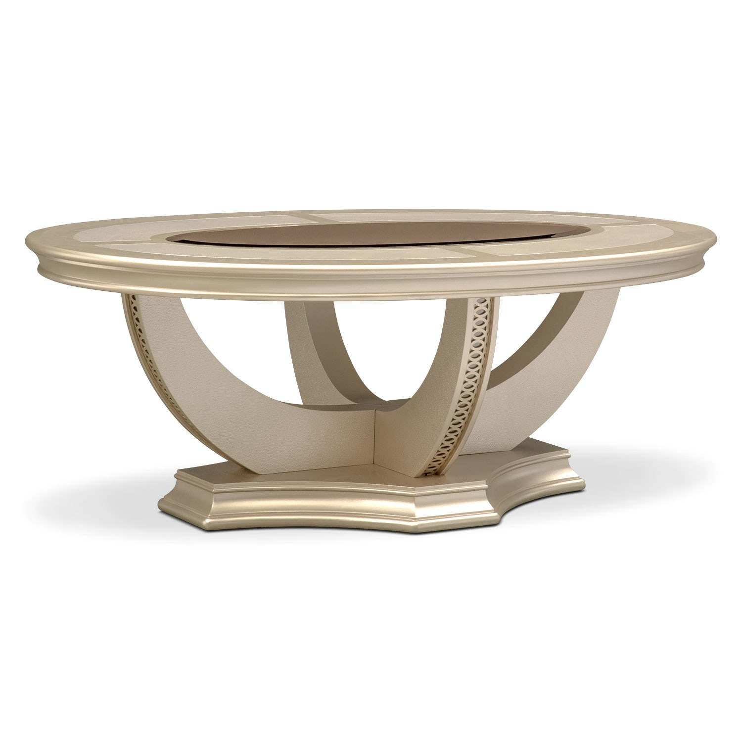 Allegro Cocktail Table   Platinum