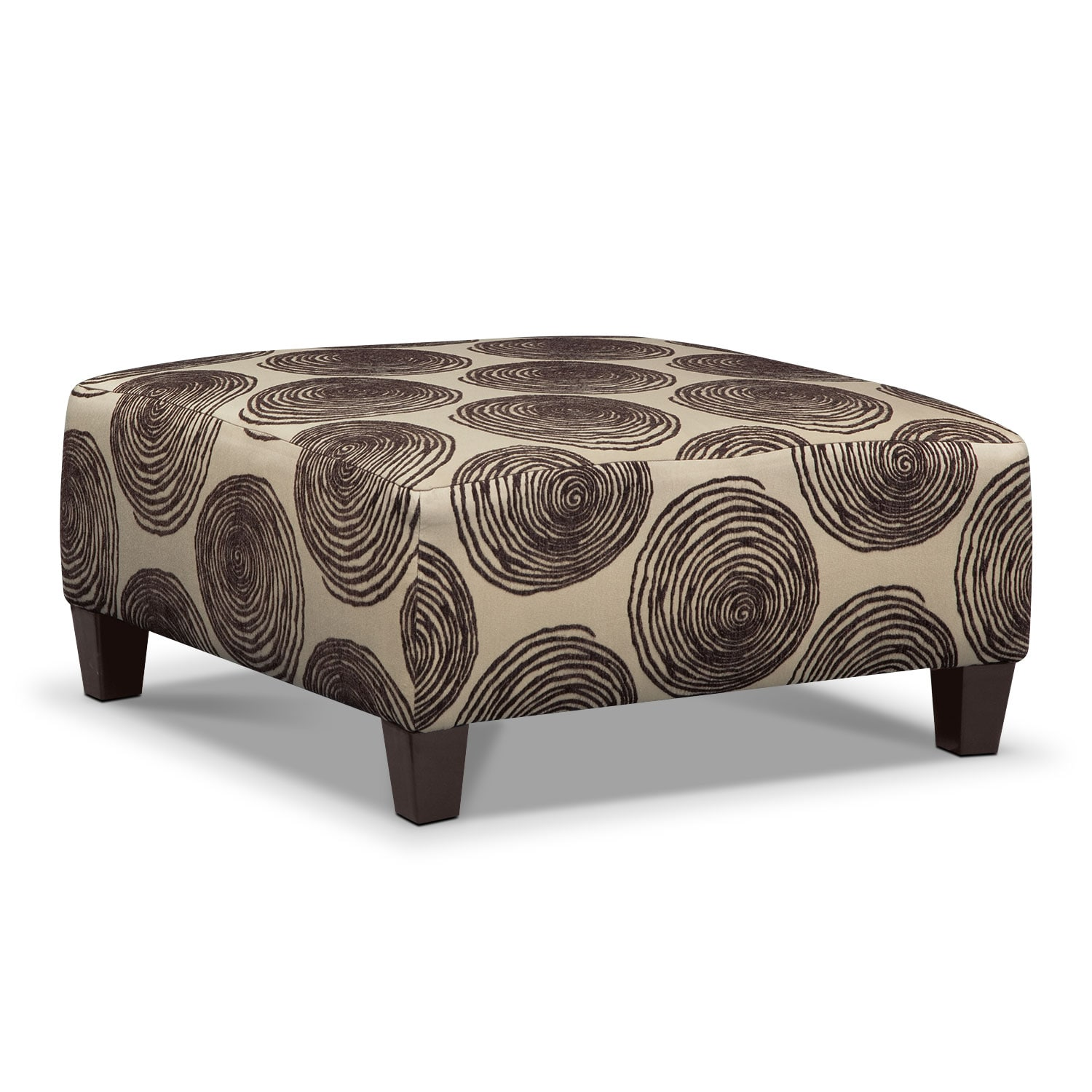 Image Of Item Cordelle Tail Ottoman Chocolate