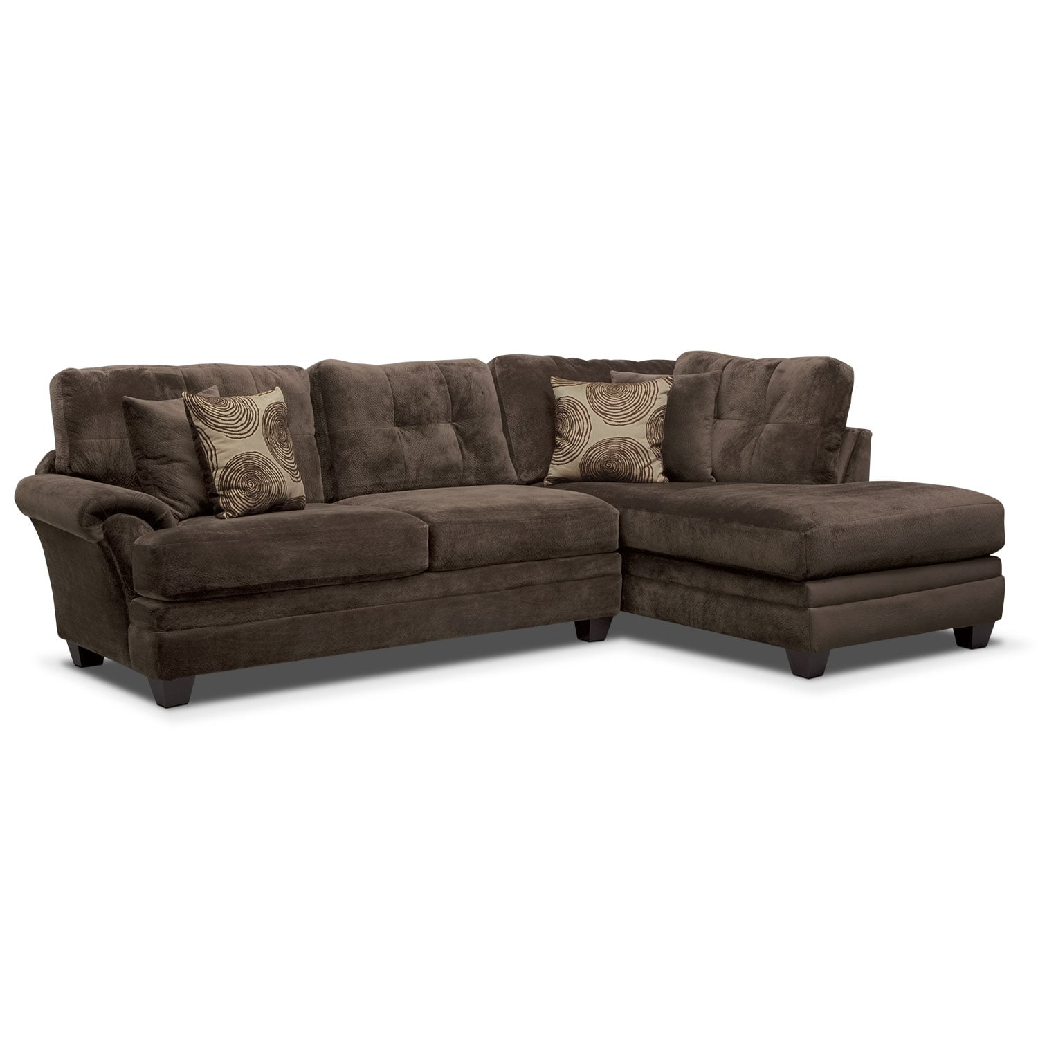 Cordoba Chocolate II 2 Pc. Sectional