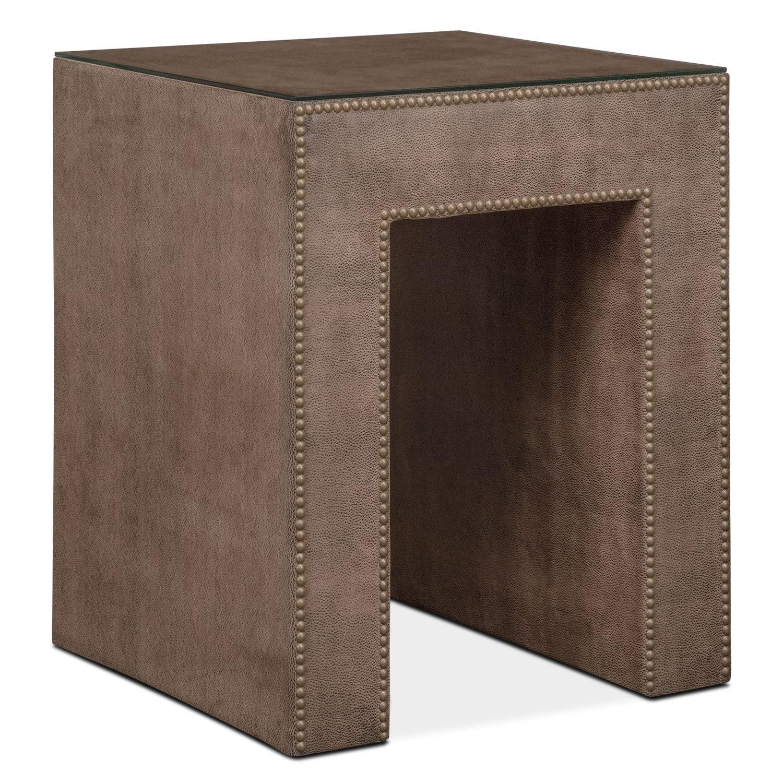 Bedroom Furniture - Nyla Nightstand - Brown