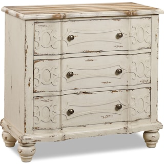 Woodbury Accent Drawer Chest - Distressed Ivory