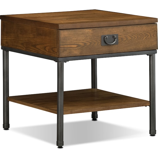 Accent and Occasional Furniture - Shipyard End Table - Nutmeg