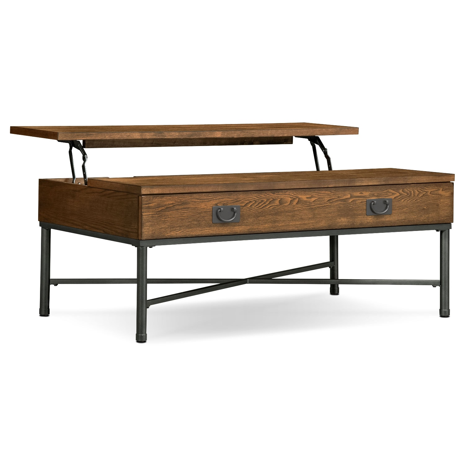 shipyard trunk cocktail table - nutmeg | value city furniture