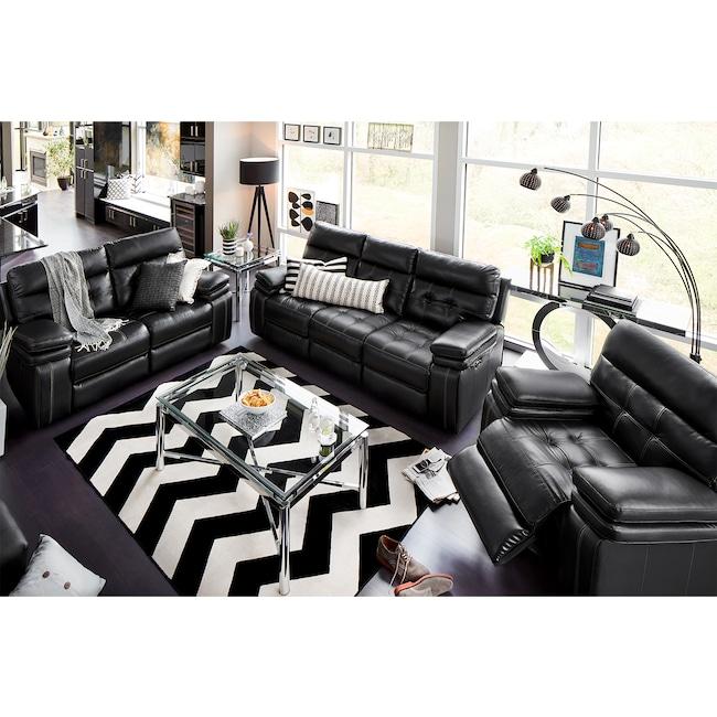 Living Room Furniture - Brisco Power Reclining Sofa, Loveseat, and Glider Recliner Set