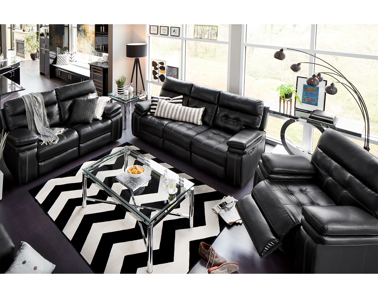 The Brisco Black Power Reclining Collection