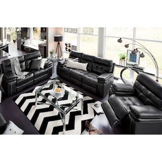 The Brisco Power Reclining Collection - Black
