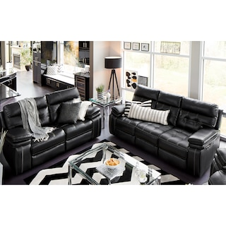 Leather Living Room Furniture | Value City Furniture and Mattresses