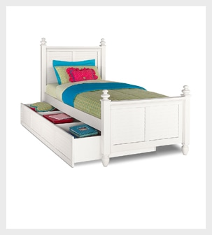Shop the Seaside White Twin Bed with Trundle