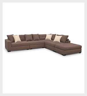 Shop the Venti Mocha 5 piece Sectional with Cocktail Ottoman