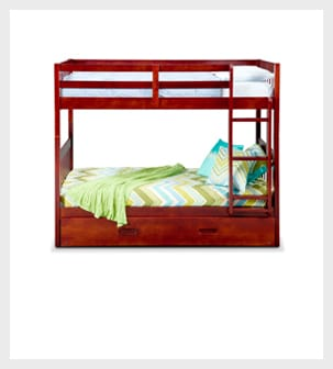 Shop the Ranger Merlot Twin Bunk Bed with Trundle