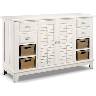 Plantation Cove Sofa Table - White