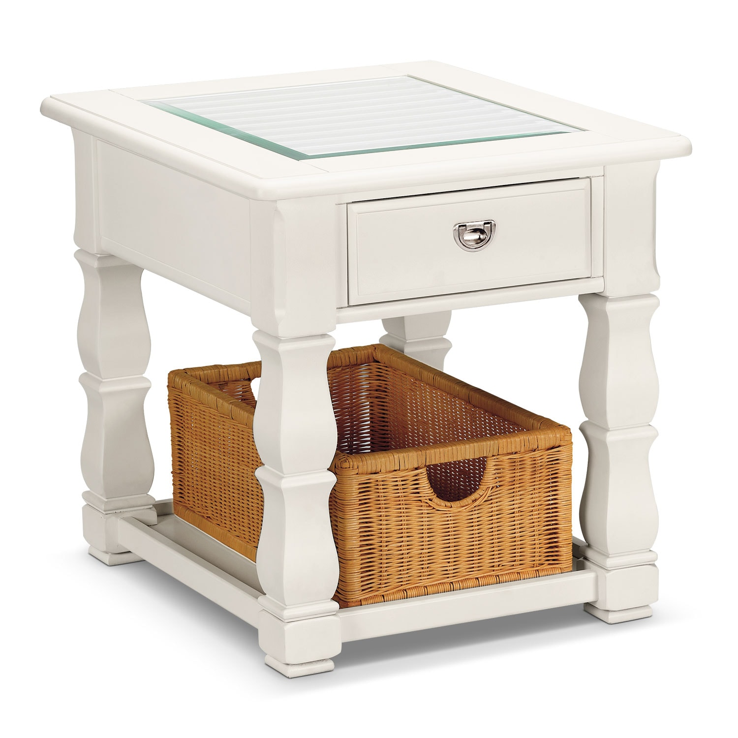 Plantation Cove White End Table