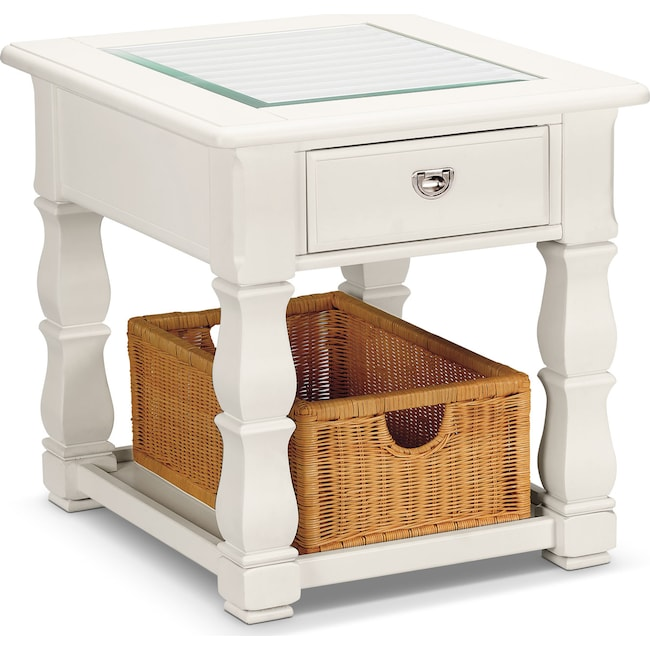 Accent and Occasional Furniture - Plantation Cove End Table - White
