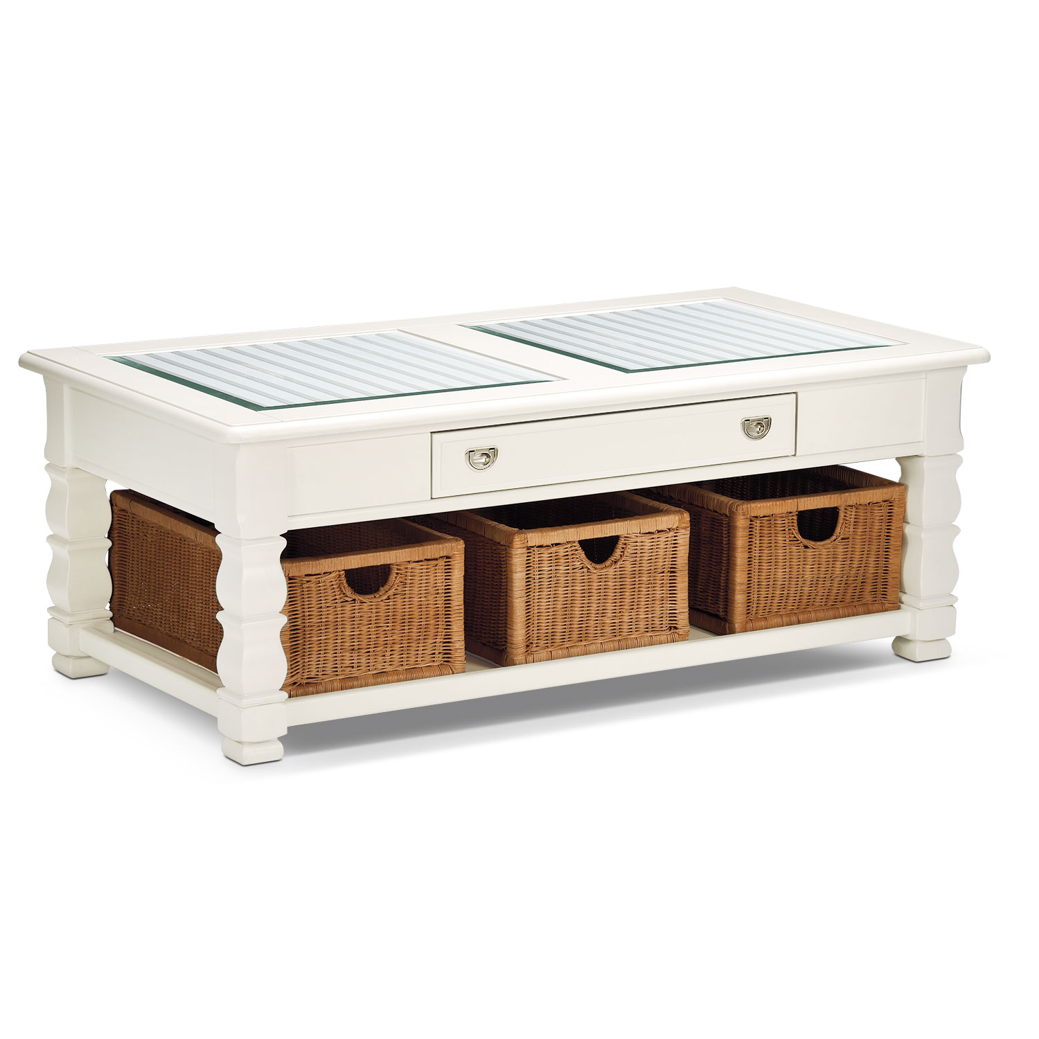 Accent and Occasional Furniture - Plantation Cove Cocktail Table - White