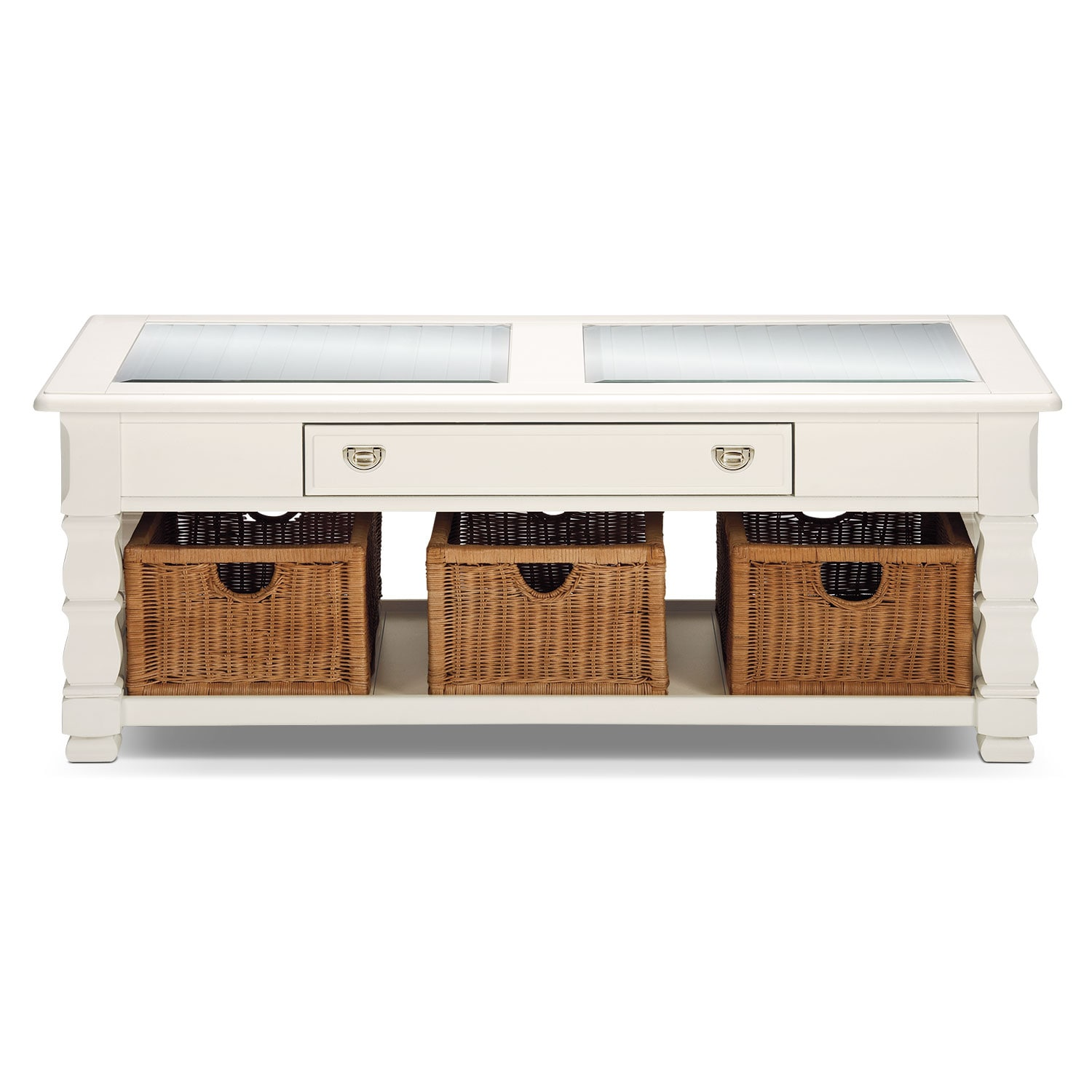 Plantation Cove Cocktail Table White
