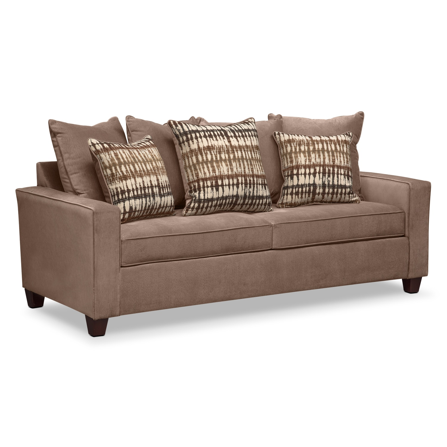 bryden sofa chocolate value city furniture. Black Bedroom Furniture Sets. Home Design Ideas