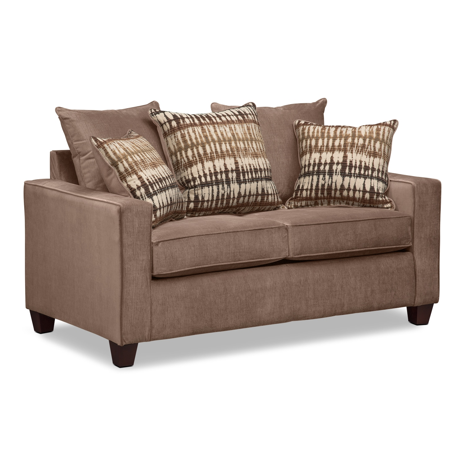 Living Room Furniture - Bryden Loveseat - Chocolate
