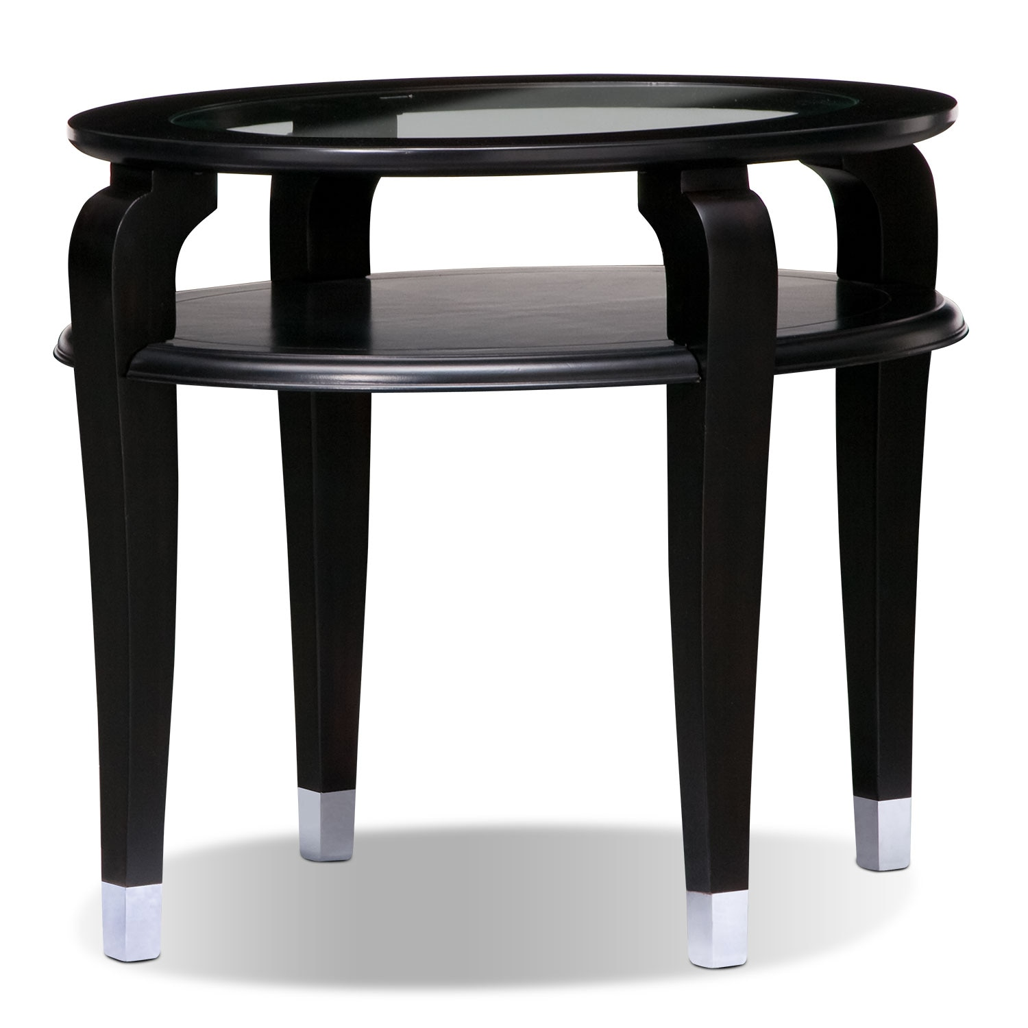 Eden End Table - Black Cherry