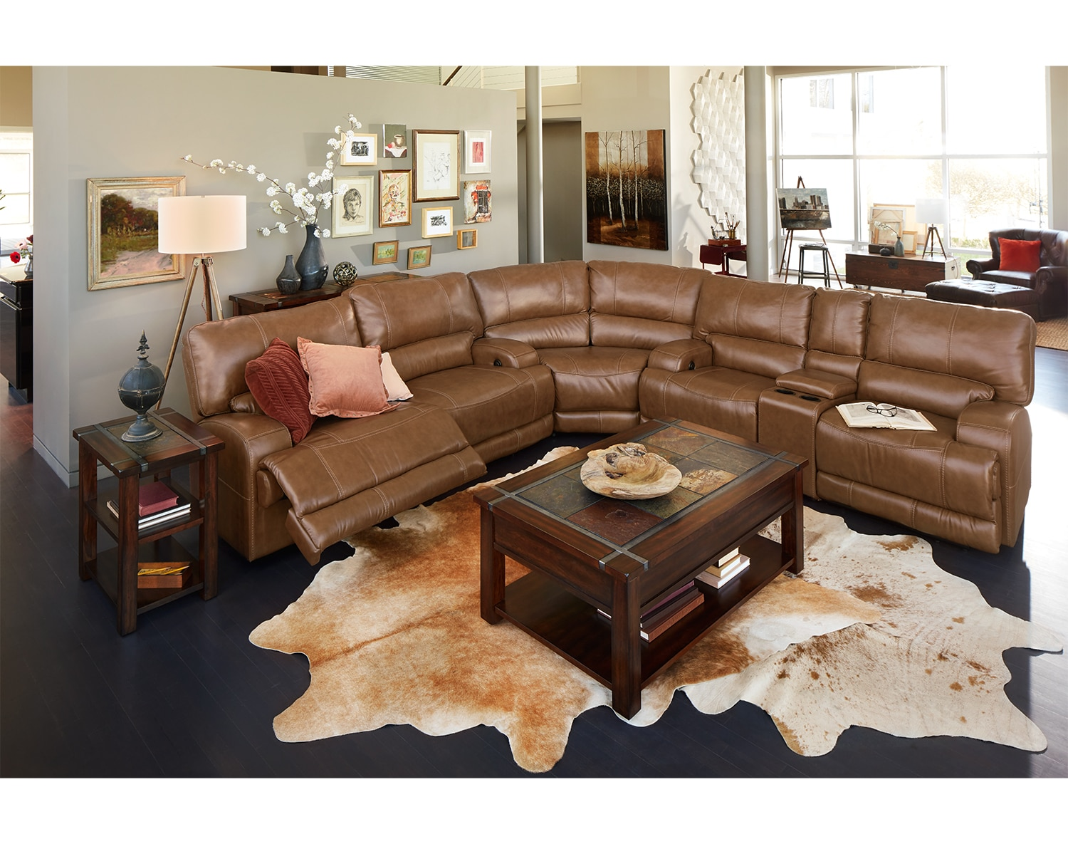 The Barton Camel Sectional Collection