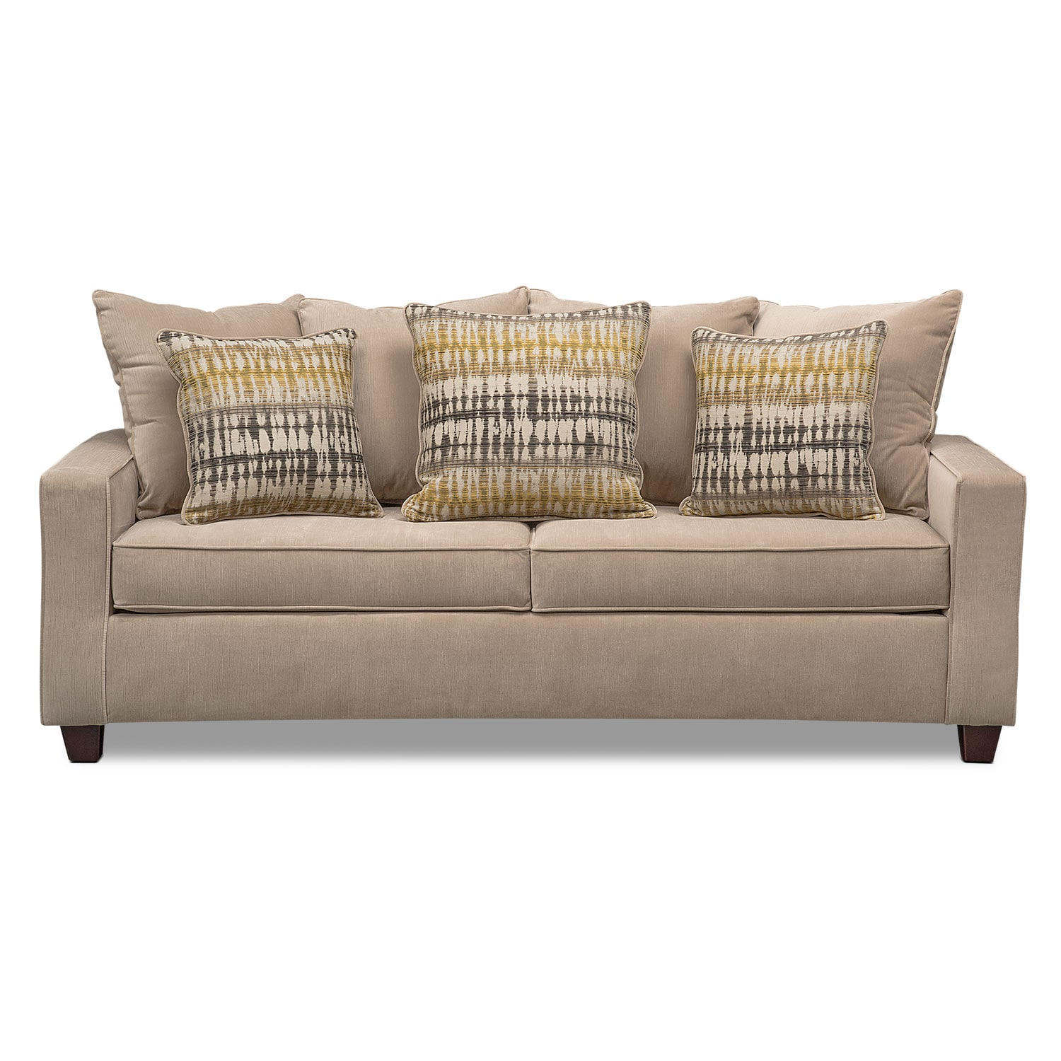 Bryden Queen Innerspring Sleeper Sofa Beige