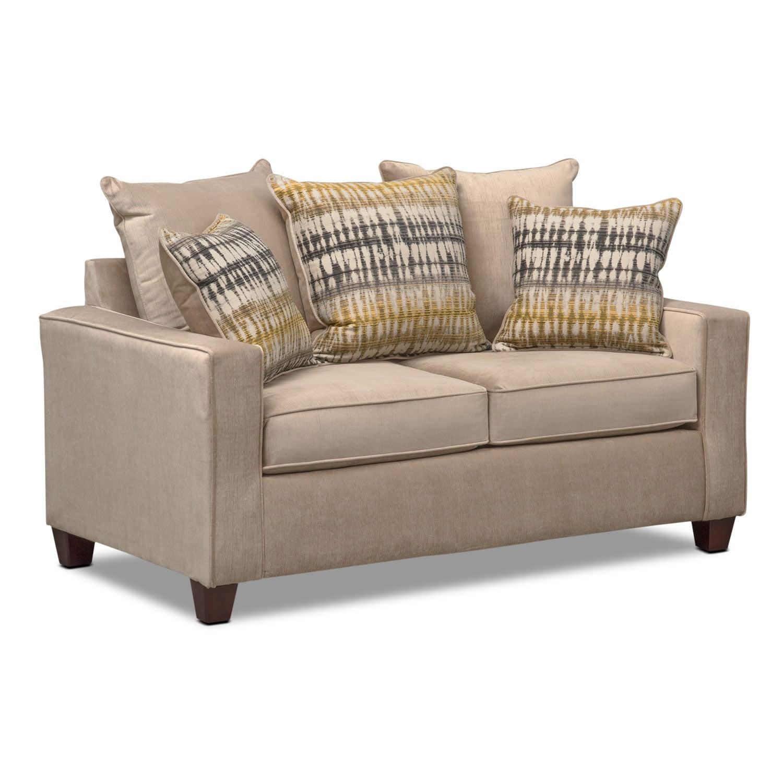 Living Room Furniture - Bryden Loveseat - Beige
