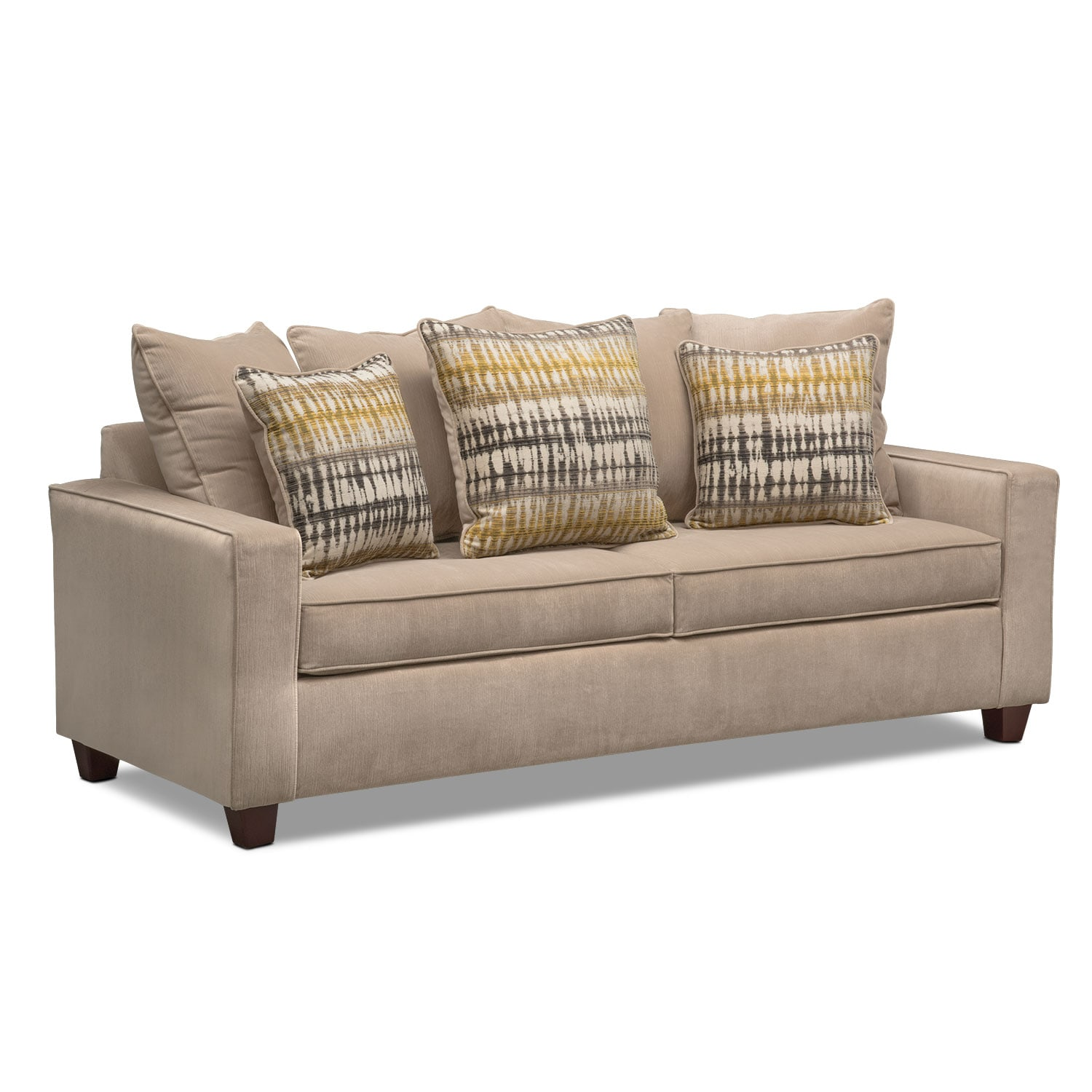Bryden Sofa And Loveseat Set - Beige By Factory Outlet