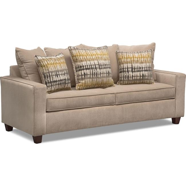 Living Room Furniture - Bryden Queen Memory Foam Sleeper Sofa - Beige