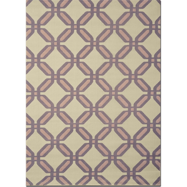 Rugs - Broadway 5' x 8' Area Rug - Gray and Beige
